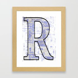 "Proud to be ""R"" Framed Art Print"