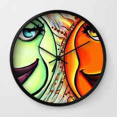 Moon & Sun Wall Clock