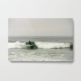 Breaking the waves Metal Print