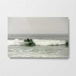 Breaking the waves Metal Print