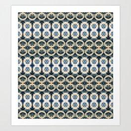 Striped Shibori Art Print