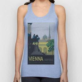 Vintage poster - Vienna Unisex Tank Top