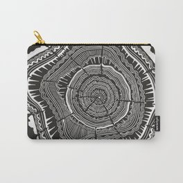 Growth Rings – 65 Years – Black Carry-All Pouch