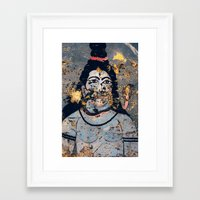 hindu Framed Art Prints featuring Hindu mural by Rick Onorato