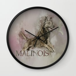 Belgian Malinois - Mechelaar  - Maligator Wall Clock