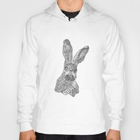 hare Hoodies featuring Hare by Eirik Walland Larsen