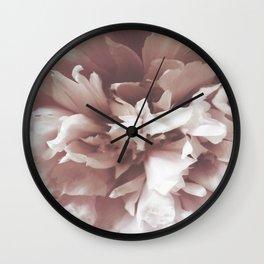 Peony Portrait Wall Clock