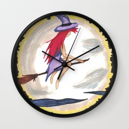 Moonlight Witch Wall Clock