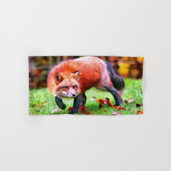 Autumn Fox hunting Hand & Bath Towel