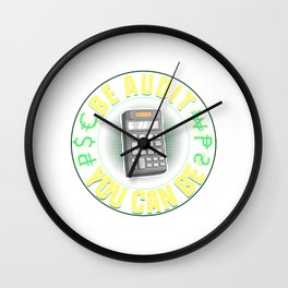Be Audit You Can Be Funny Accountant CPA Auditor Wall Clock