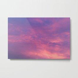 Peach & Violet Blaze Metal Print