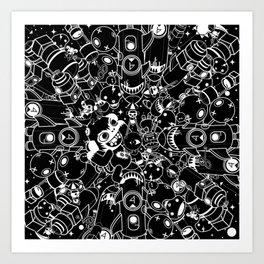 For Good For Evil - Black on White Art Print