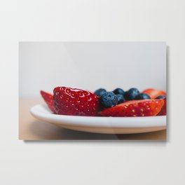Strawberries Close Metal Print
