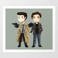 destiel Art Prints featuring Destiel  by agartaart