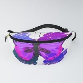Purple Butterfly Fanny Pack