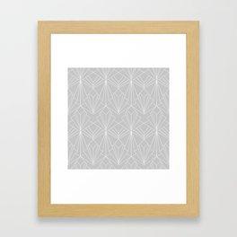 Art Deco on Grey Framed Art Print