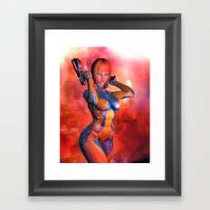 sexy gun girl 2 Framed Art Print