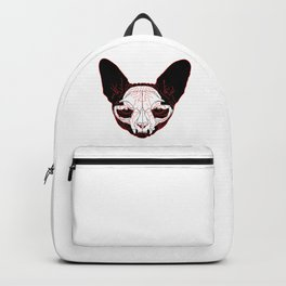 cat skull Backpack