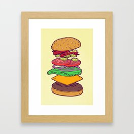 Vegan Burger Anatomy (No Words) Framed Art Print