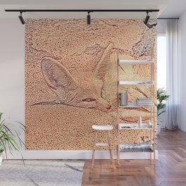 Sketchy Fennec Fox Wall Mural