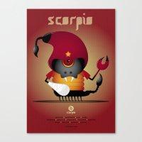 scorpio Canvas Prints featuring SCORPIO by Angelo Cerantola