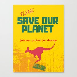 Protect Our Planet Canvas Print