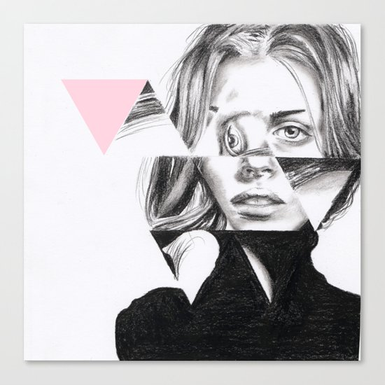 Triangles #1 pale pink Canvas Print