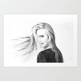 Just my Hair Art Print