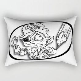 Salty pirate sketch b Rectangular Pillow