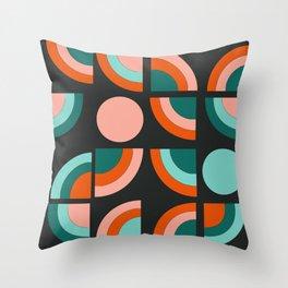 Spiffy - 70's retro throwback minimal geometric trendy colors art 1970s Throw Pillow