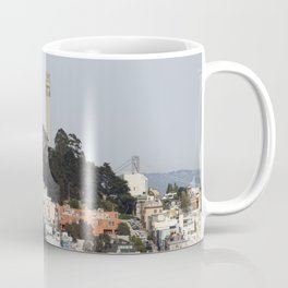 Streets Of San Francisco With Coit Tower Coffee Mug