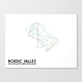 Nordic Valley, UT - Minimalist Winter Trail Art Canvas Print
