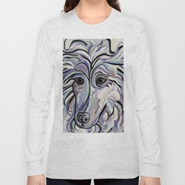 Collie in Denim Colors Long Sleeve T-shirt