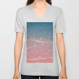 Bahamas pink blue Unisex V-Neck