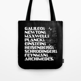 List Top Phycicists Background white Tote Bag