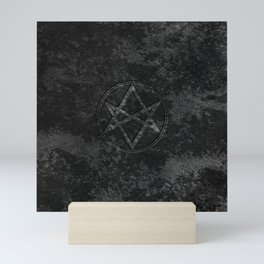 Men of Letters Leather Dark Mini Art Print
