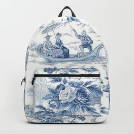 Powder Blue Chinoiserie Toile Backpack