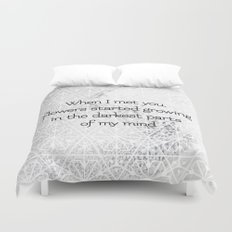 Flowers started growing Duvet Cover
