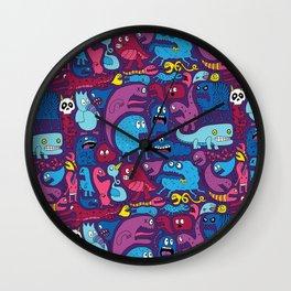 Mo Monsters Mo Patterns Wall Clock