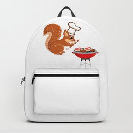 Cute Squirrel Grilling Backpack