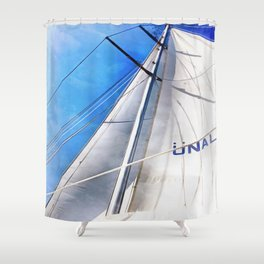 Keep The Wind In Your Sails Shower Curtain