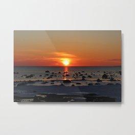 Romantic Winter Sunset Metal Print