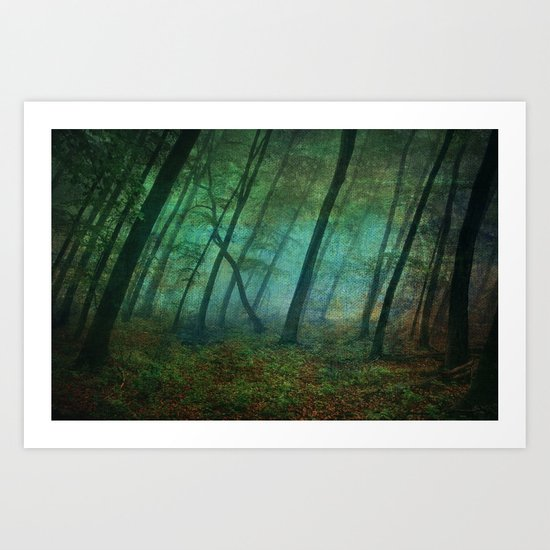 Calming blue winds Art Print