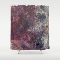 grunge Shower Curtains featuring acrylic grunge by VanessaGF