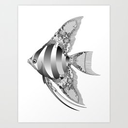 Chantilly Lace Angel Fish Art Print