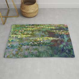 Claude Monet Pond of Water Lilies Rug