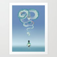 spirited away Art Prints featuring Spirited Away by Amy S.