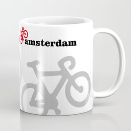 I Love Amsterdam - Red Bike Coffee Mug