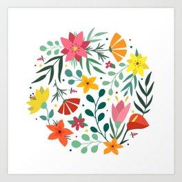 Floral print Art Print