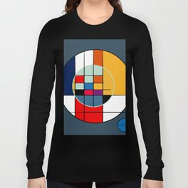 abstract art geometric Long Sleeve T-shirt